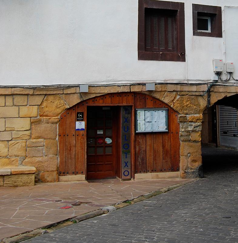 Entrada del Restaurante Txulotxo en Pasajes de San Juan